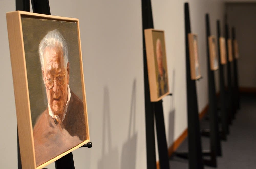 Portraits of nine Holocaust survivors