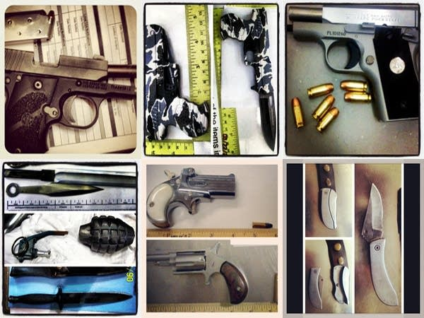 TSA confiscated weapons