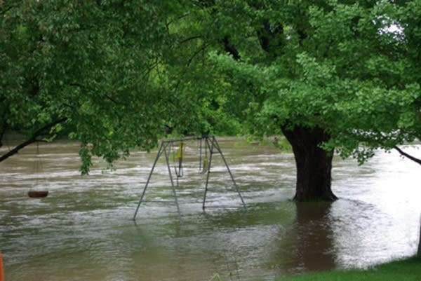 A swingset near Riverview, Iowa.