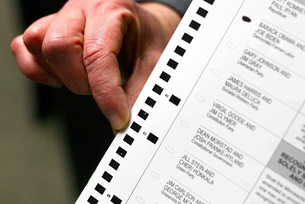 Mis-printed ballot