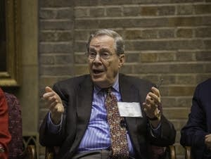 Peter Edelman speaks on a panel