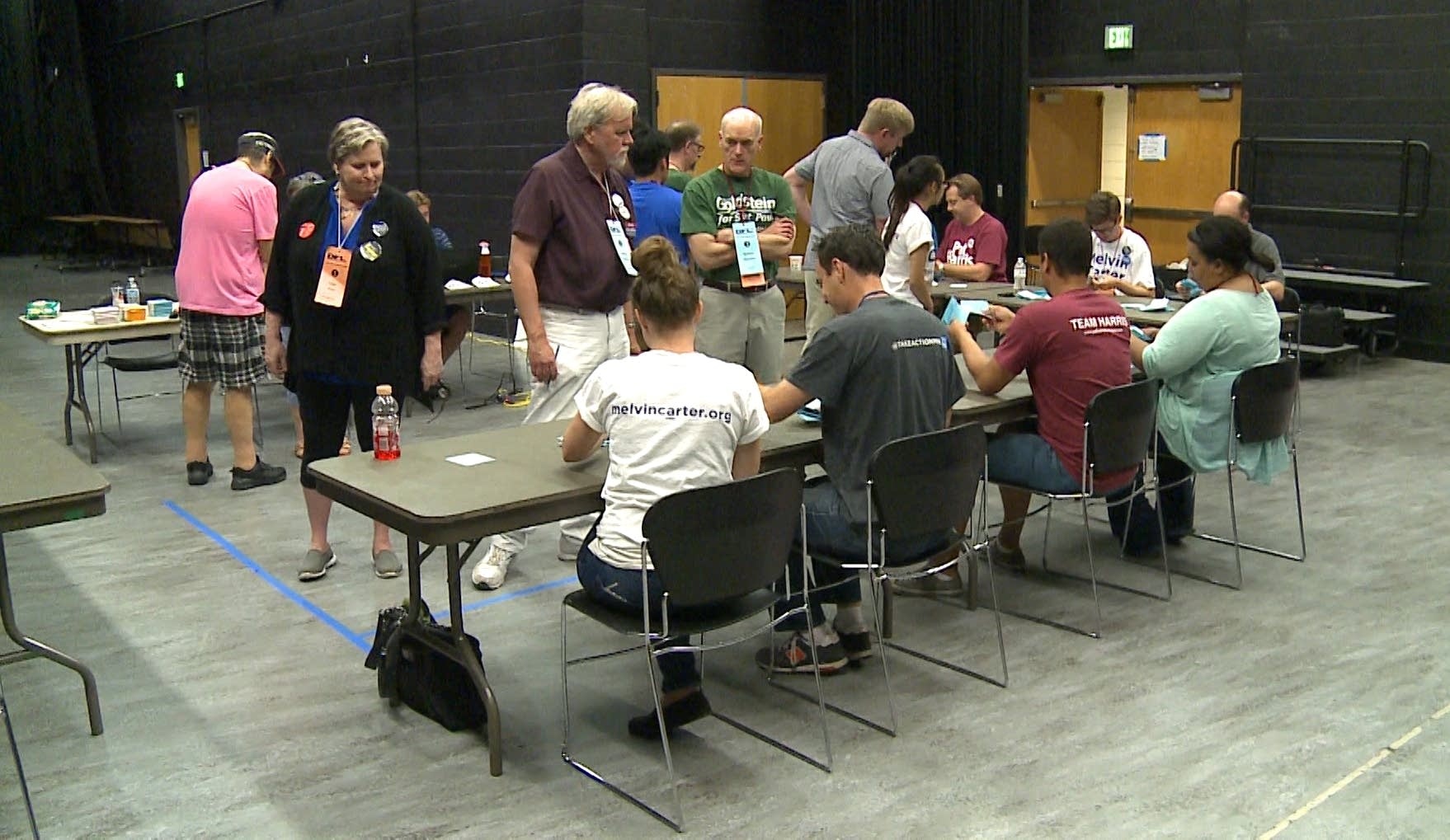 Tellers counted a round of ballots at the St. Paul DFL party convention.