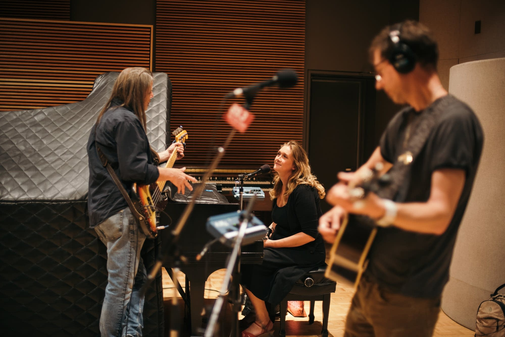 Fathom Lane and the Laurels String Quartet perform in the studio