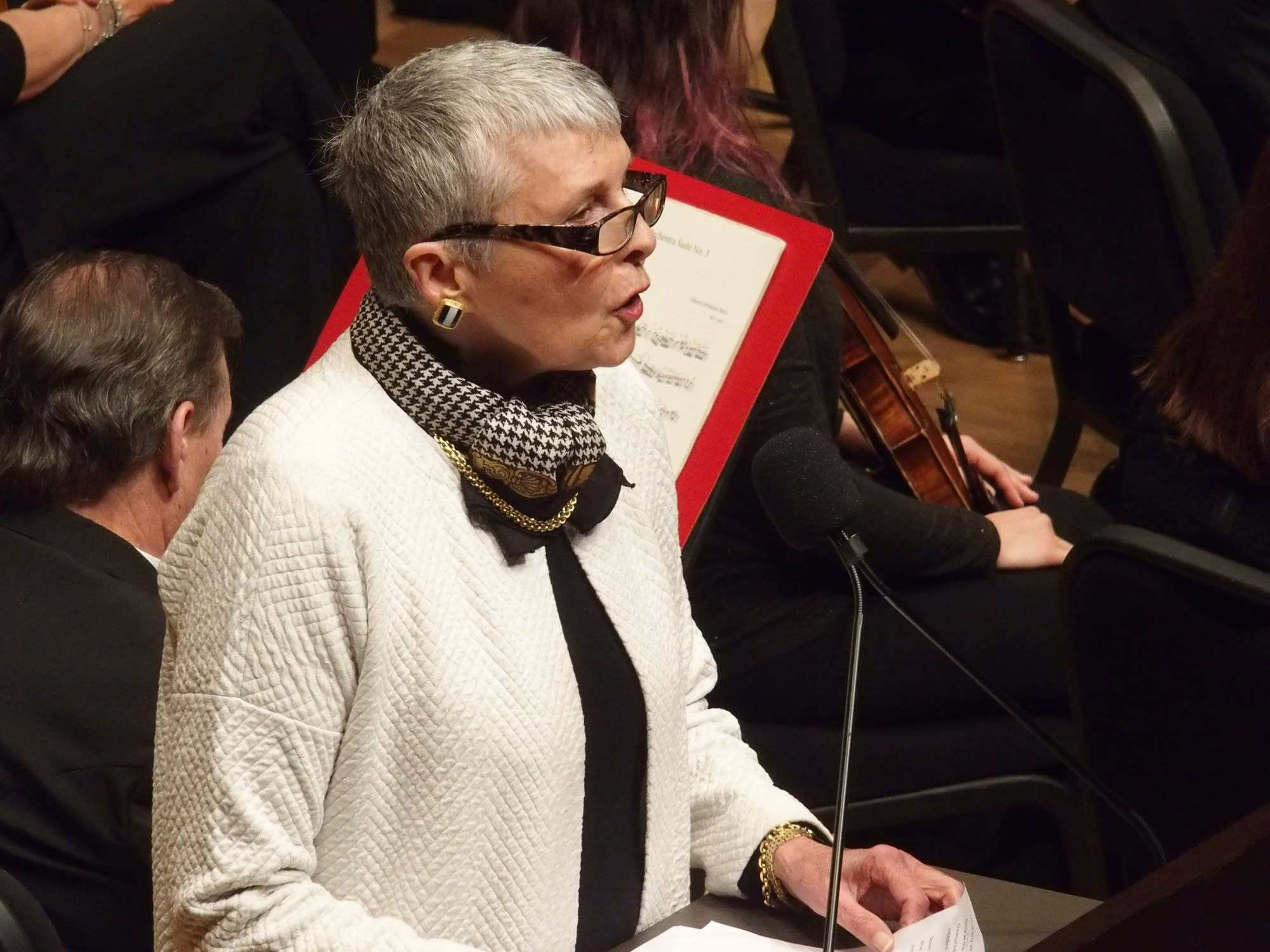 Linda Hoeschler, past chair of the American Composers Forum