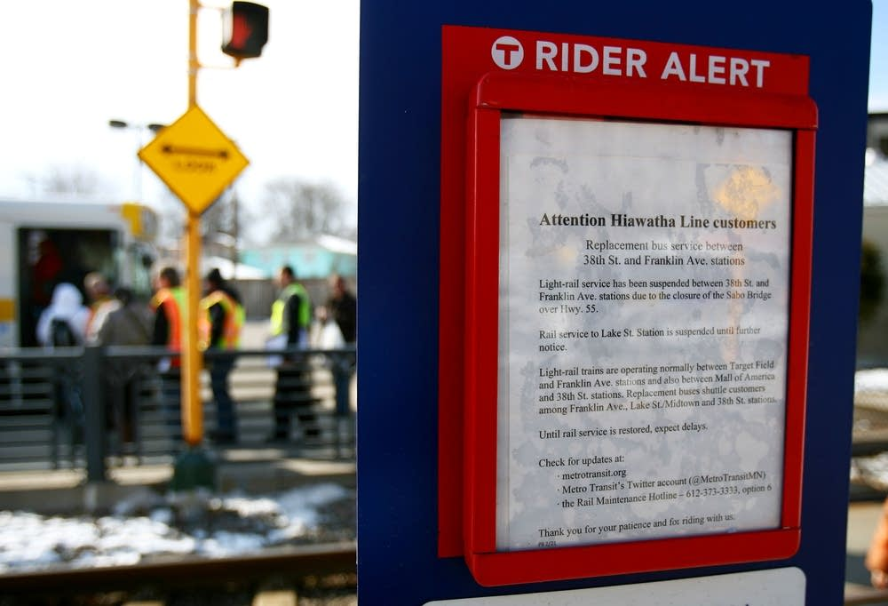 Hiawatha Line rider alert
