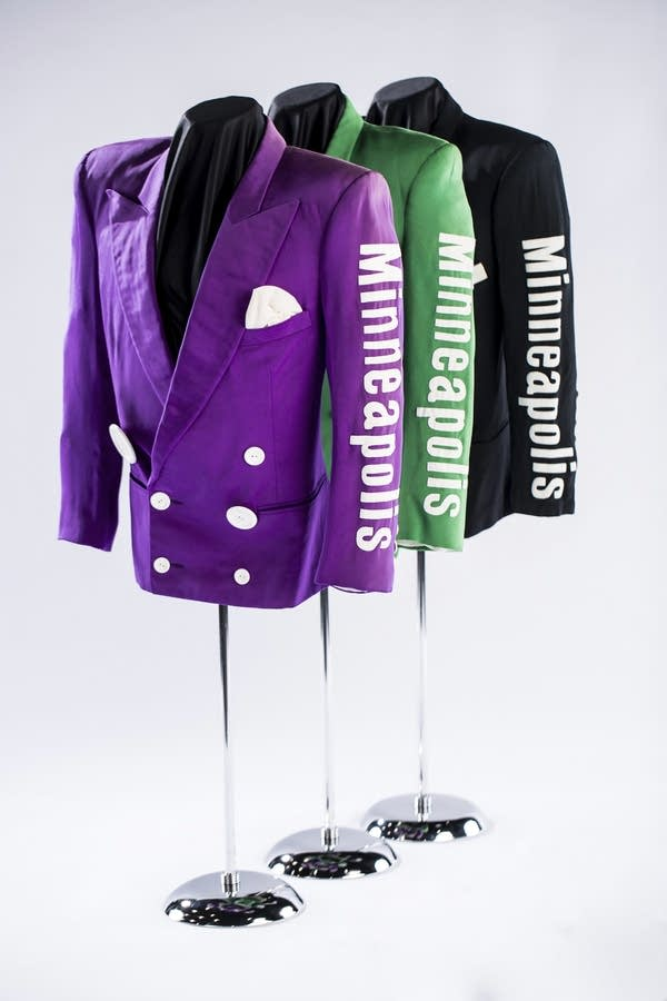 Jackets from Prince's Lovesexy tour, with Minneapolis on the sleeve