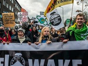 Climate protest at UN talks in Poland