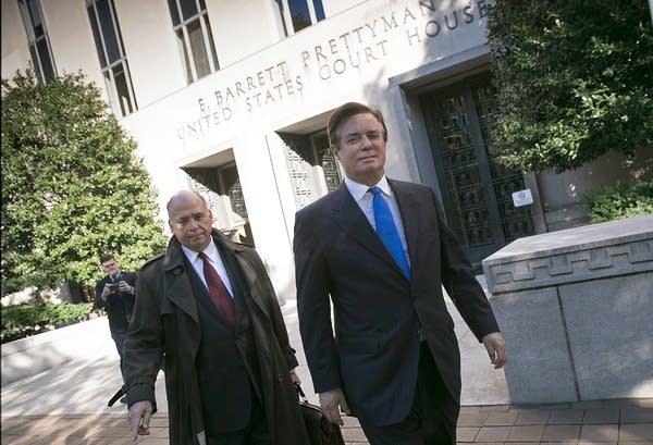 Paul Manafort leaves U.S. District Court