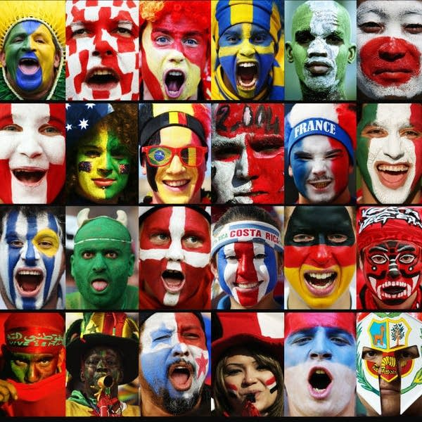 Composite image of World Cup fans