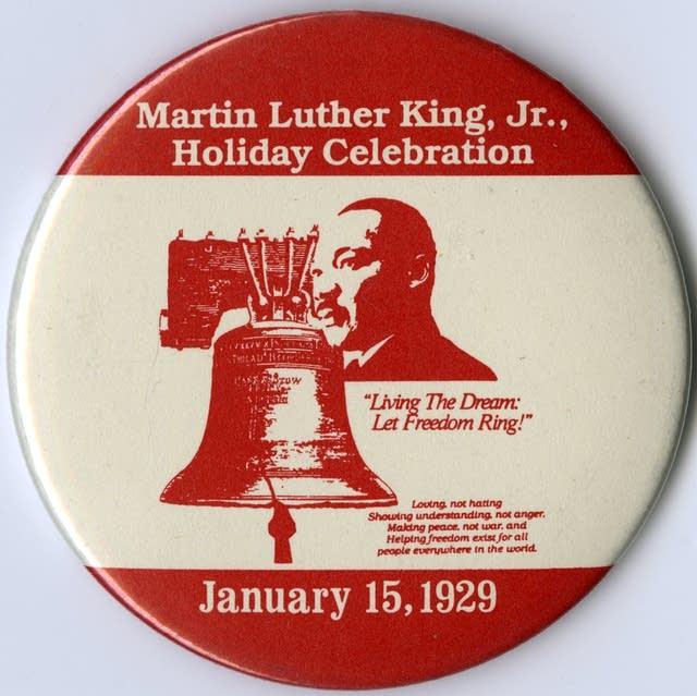 MLK Day commemorative button