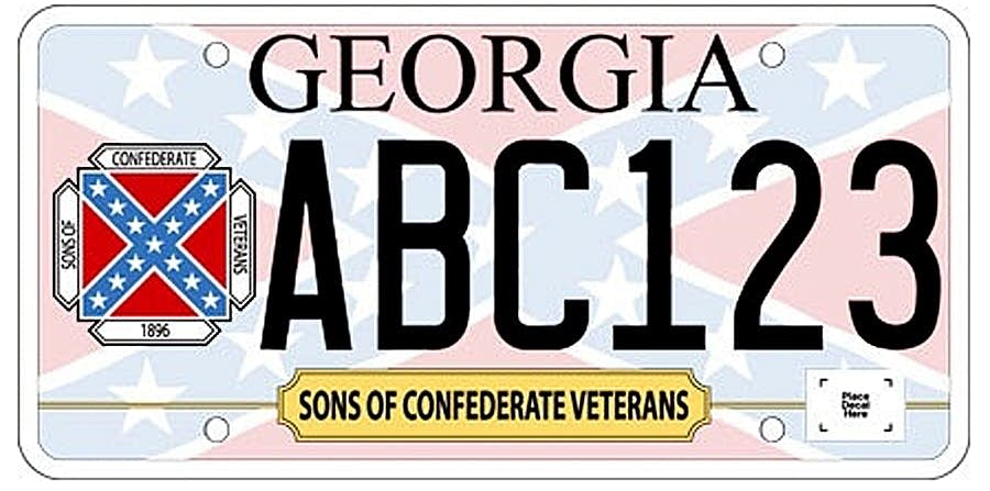 Georgia's Confederate flag license plate