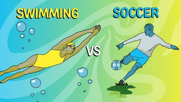 Smash Boom Best: Soccer vs. Swimming