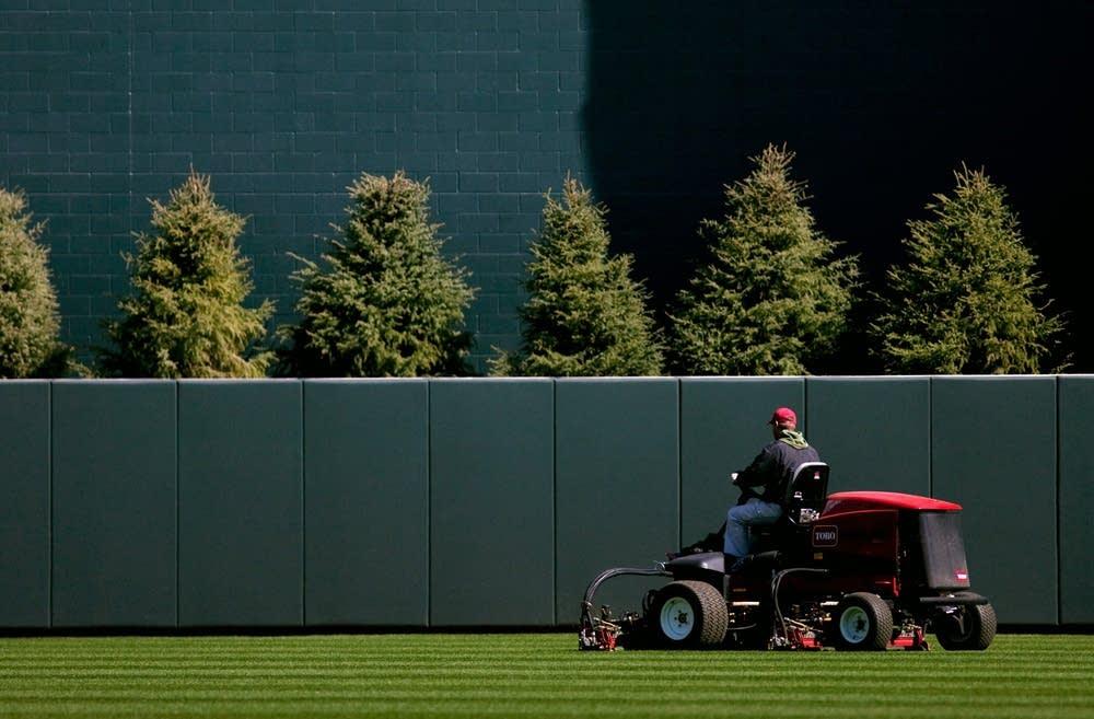 Mowing Target Field grass