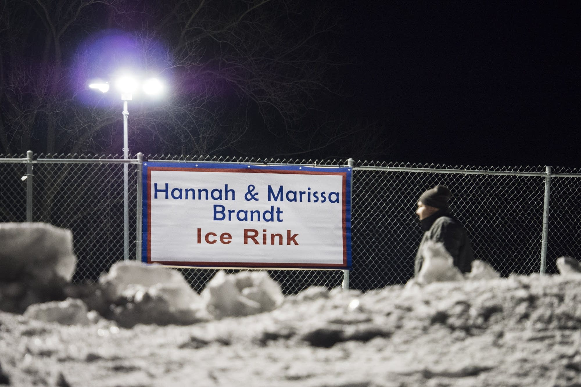 The city surprised the sisters by naming the ice rink in their honor.