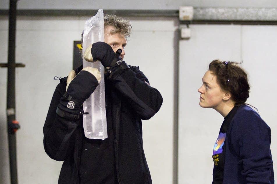 Mari Kvien Brunvoll, right, with Terje Isungset