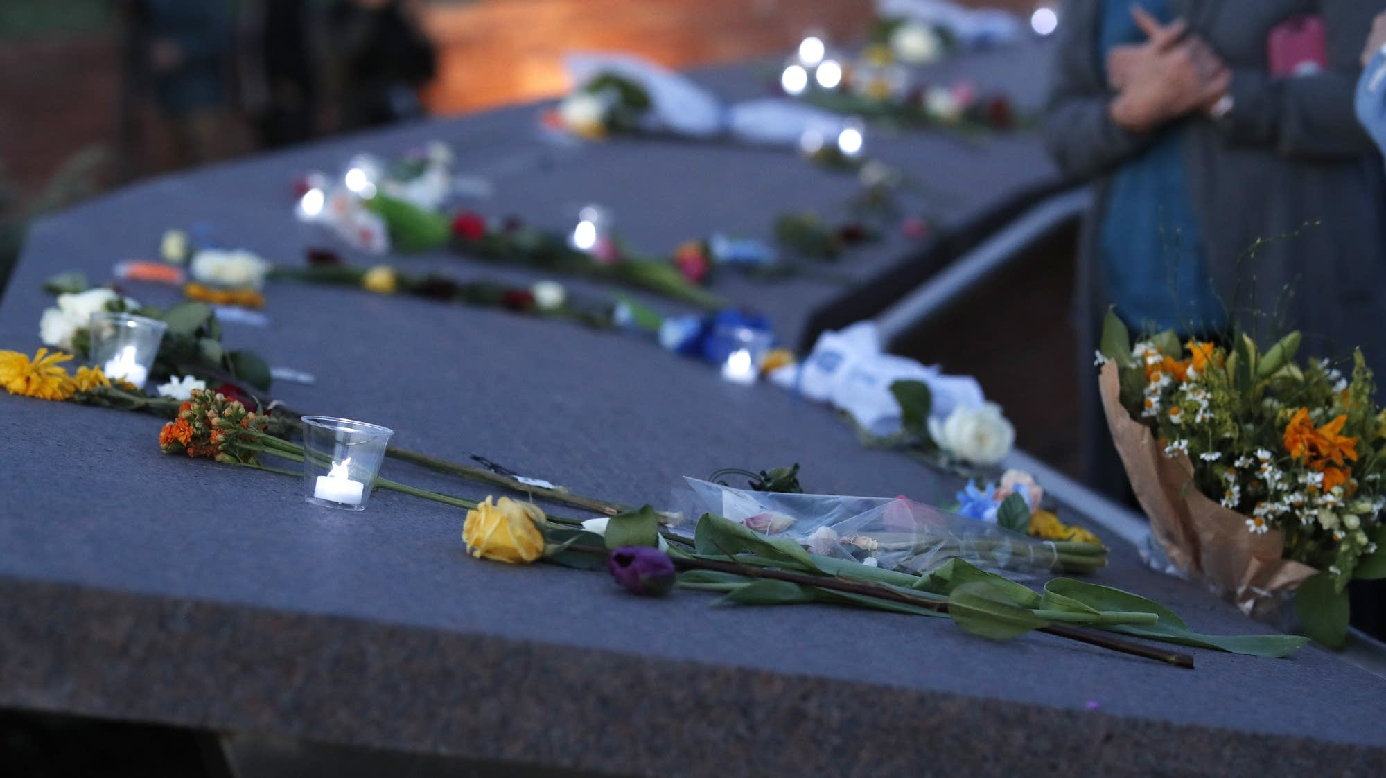 Memorial for the victims of the massacre at Columbine High School