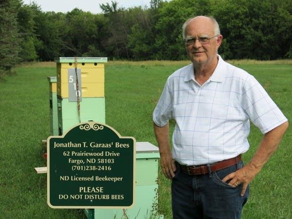 Attorney and hobby beekeeper Jonathan Garaas