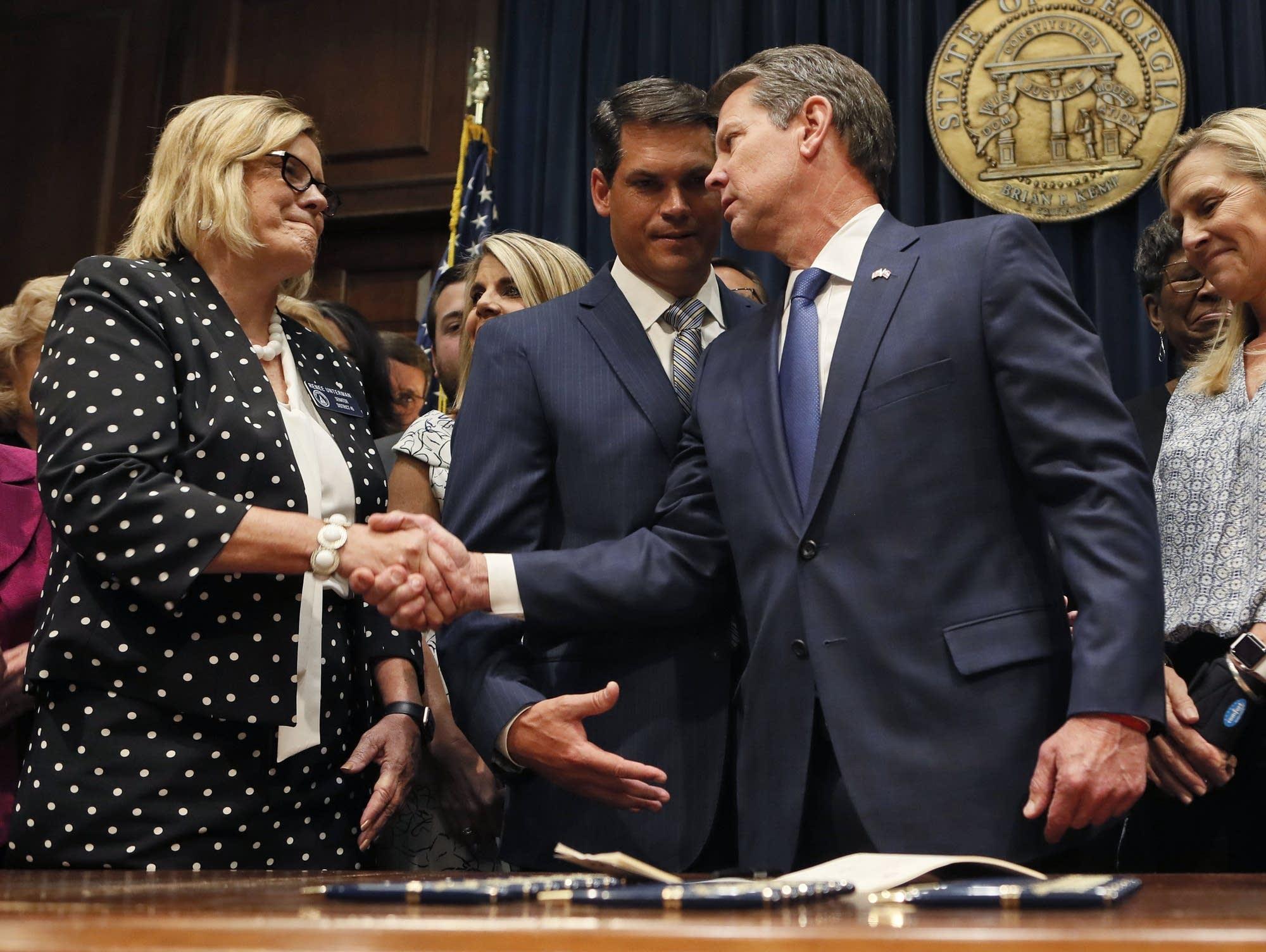 Georgia's Republican Gov. Brian Kemp