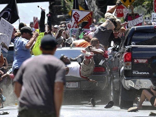 A deadly car attack in Charlottesville, Va.