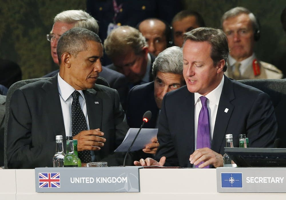 Barack Obama, John Kerry and David Cameron