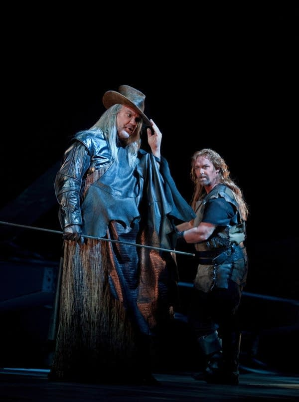 Terfel as the Wanderer and Morris as Siegfried