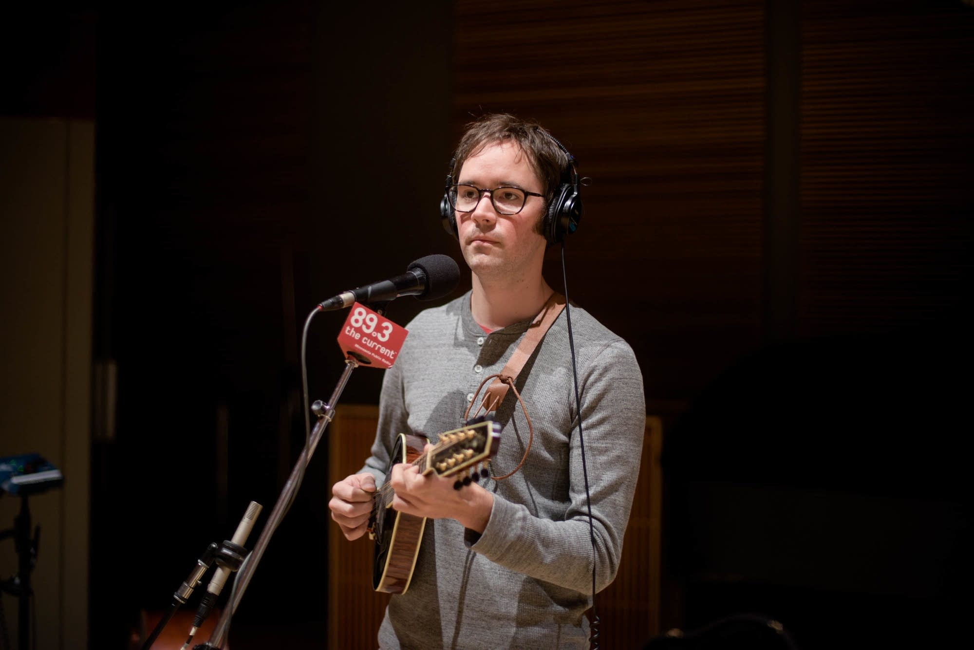 Andrew Marlin of Mandolin Orange in studio