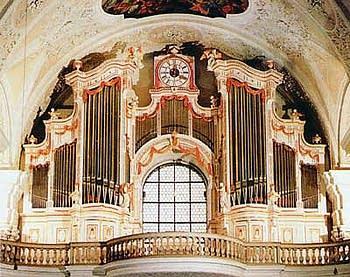 1787 Holzhey organ at the Abbey Church of Saint Peter and Saint Paul,...