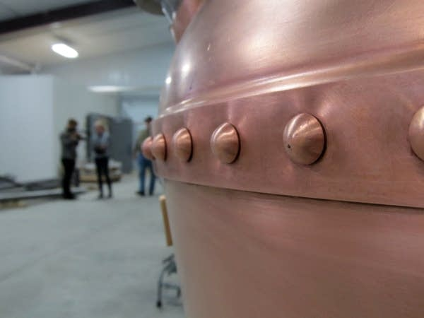 One of two copper stills