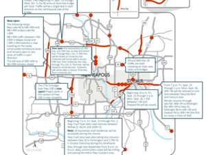 Construction projects and road closures