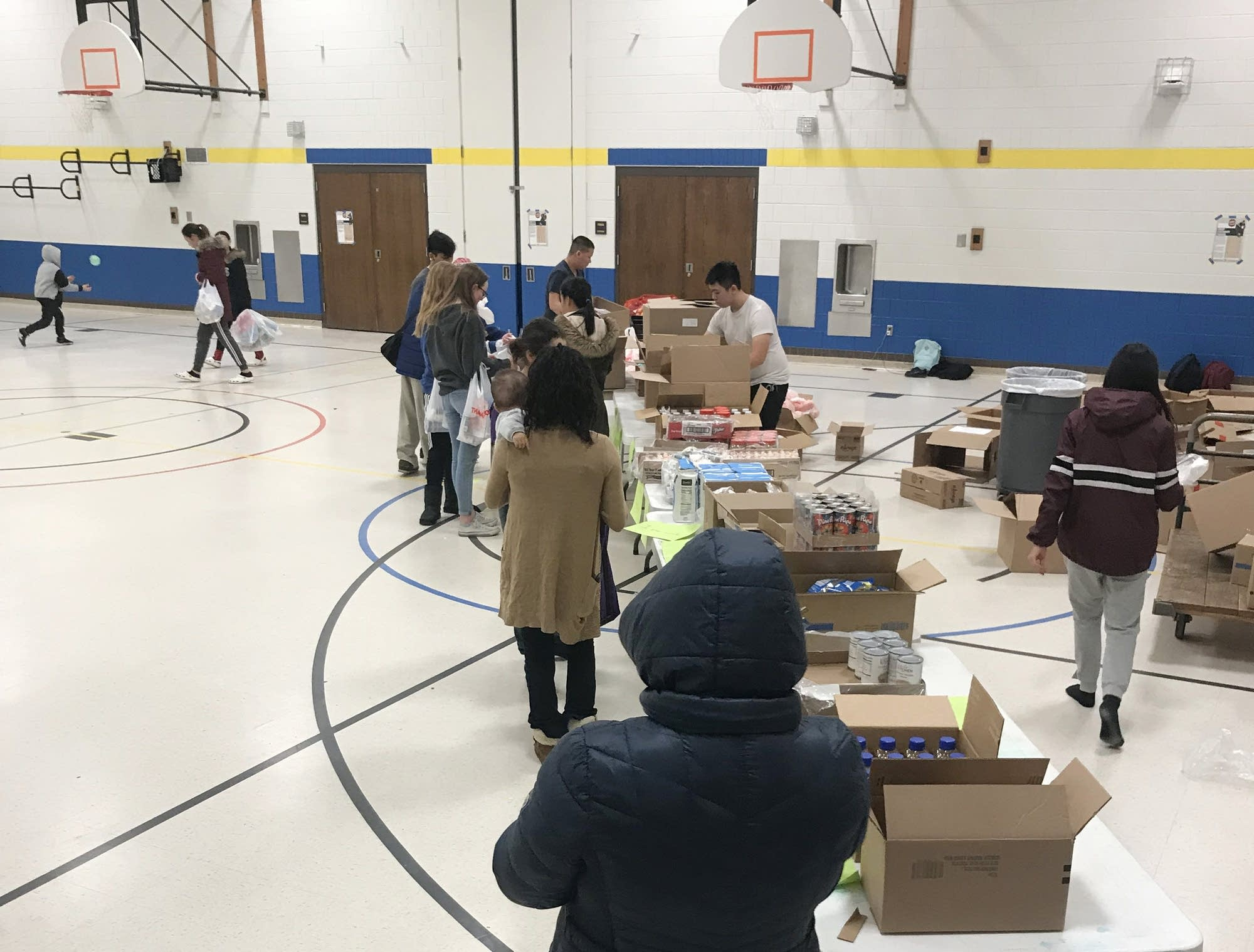 St. Paul Music Academy holds a monthly food shelf for families.