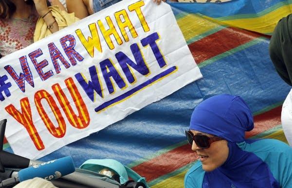 Britain burkini protest