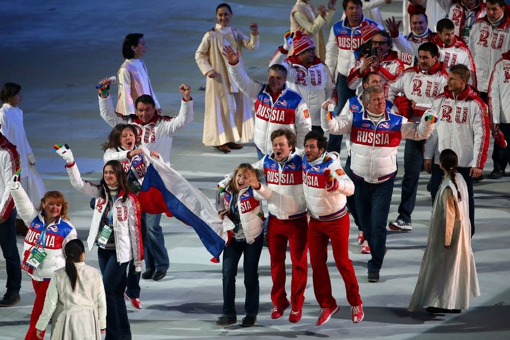 Team Russia athletes
