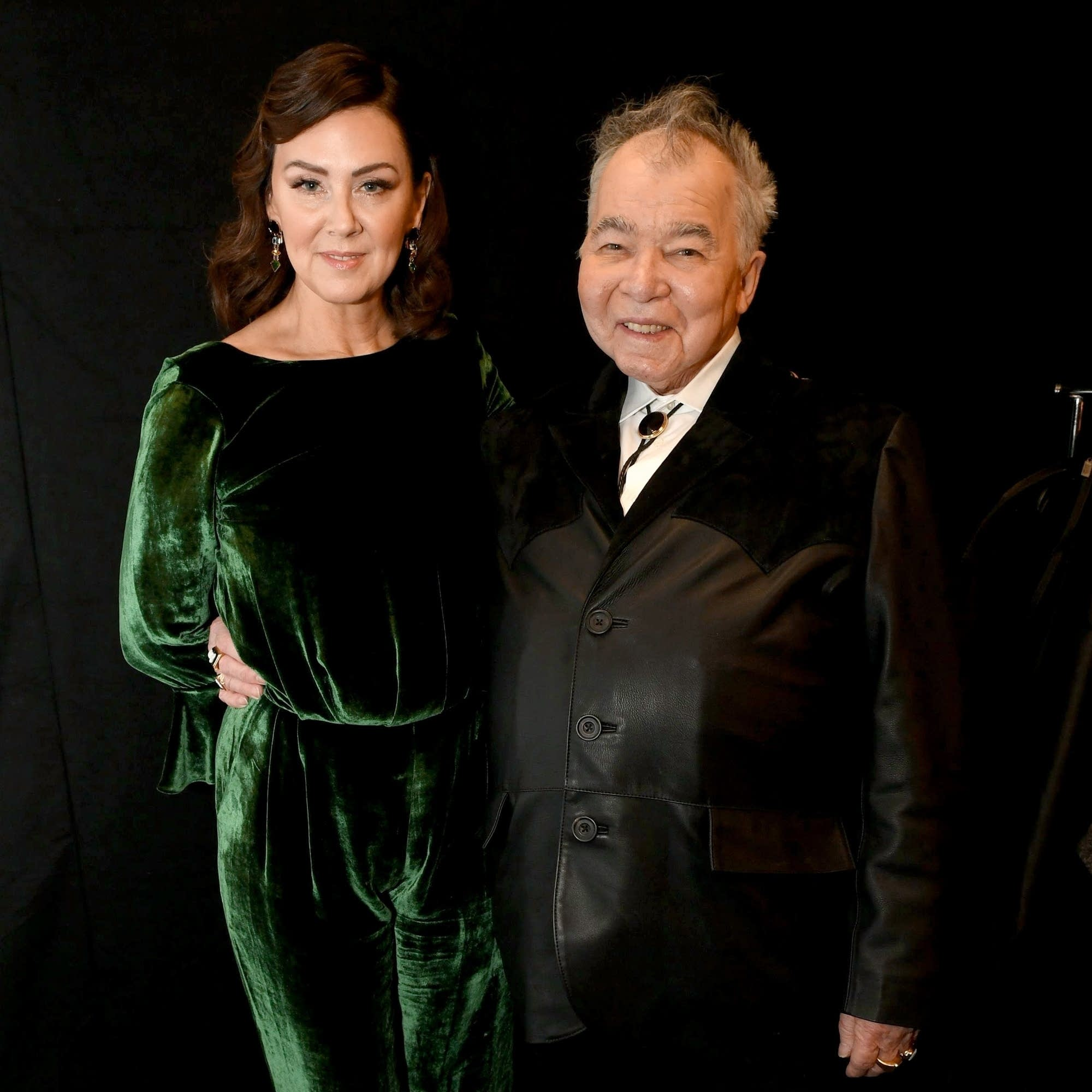 Fiona Whelan Prine and John Prine at the Grammys, 2020.