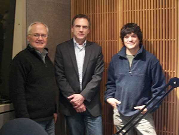 The carol composers and host John Birge