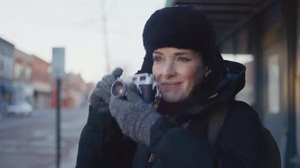 Winona Ryder in a Super Bowl ad.