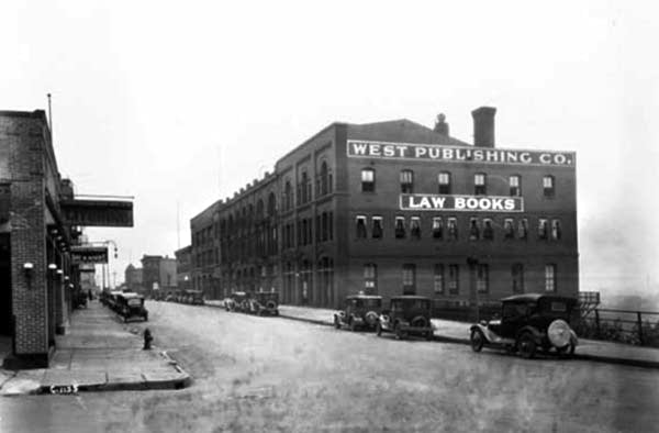 The West Publishing offices on Kellogg Blvd.