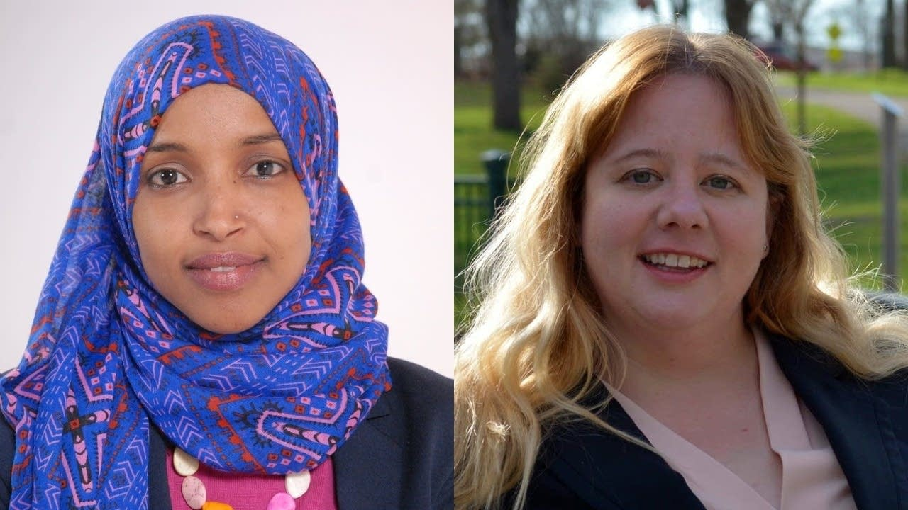 Ilhan Omar and Jennifer Zielinski