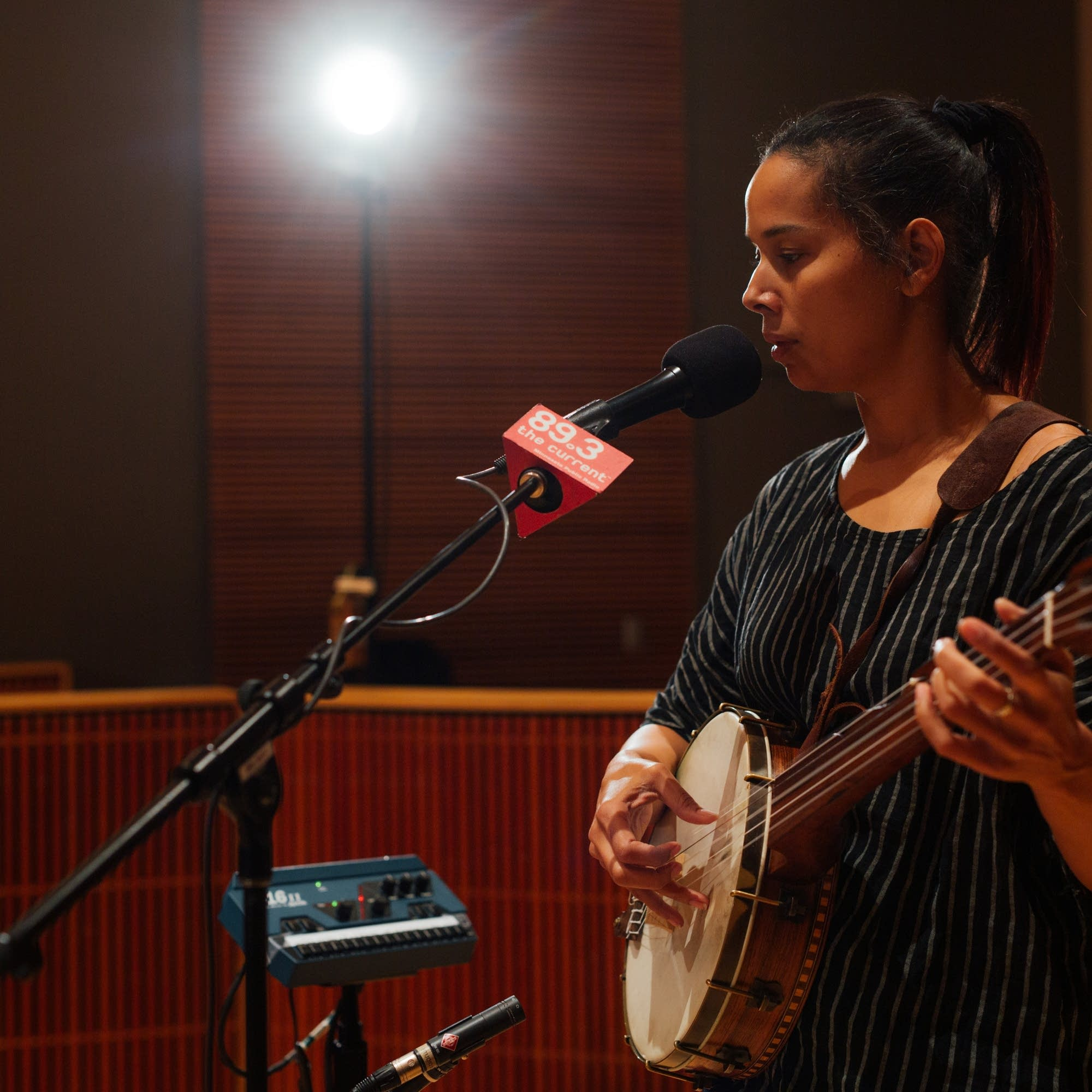 Rhiannon Giddens in The Current studio