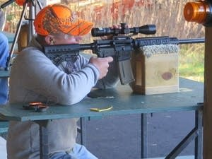Hunters practice at a shooting range