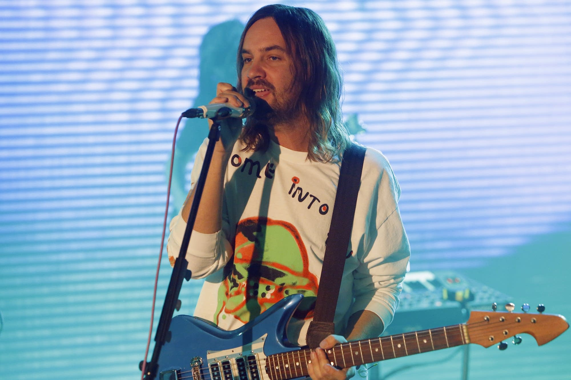 Tame Impala performing on 'Jimmy Kimmel Live!' on ABC