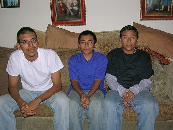 Mario Martinez with brothers Geovanni and Manuel.