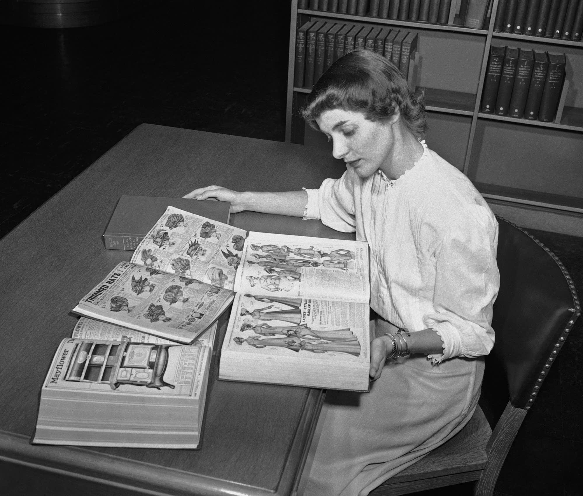 3bdd9afa536 Ruth Parrington studies early Sears Roebuck catalogs.