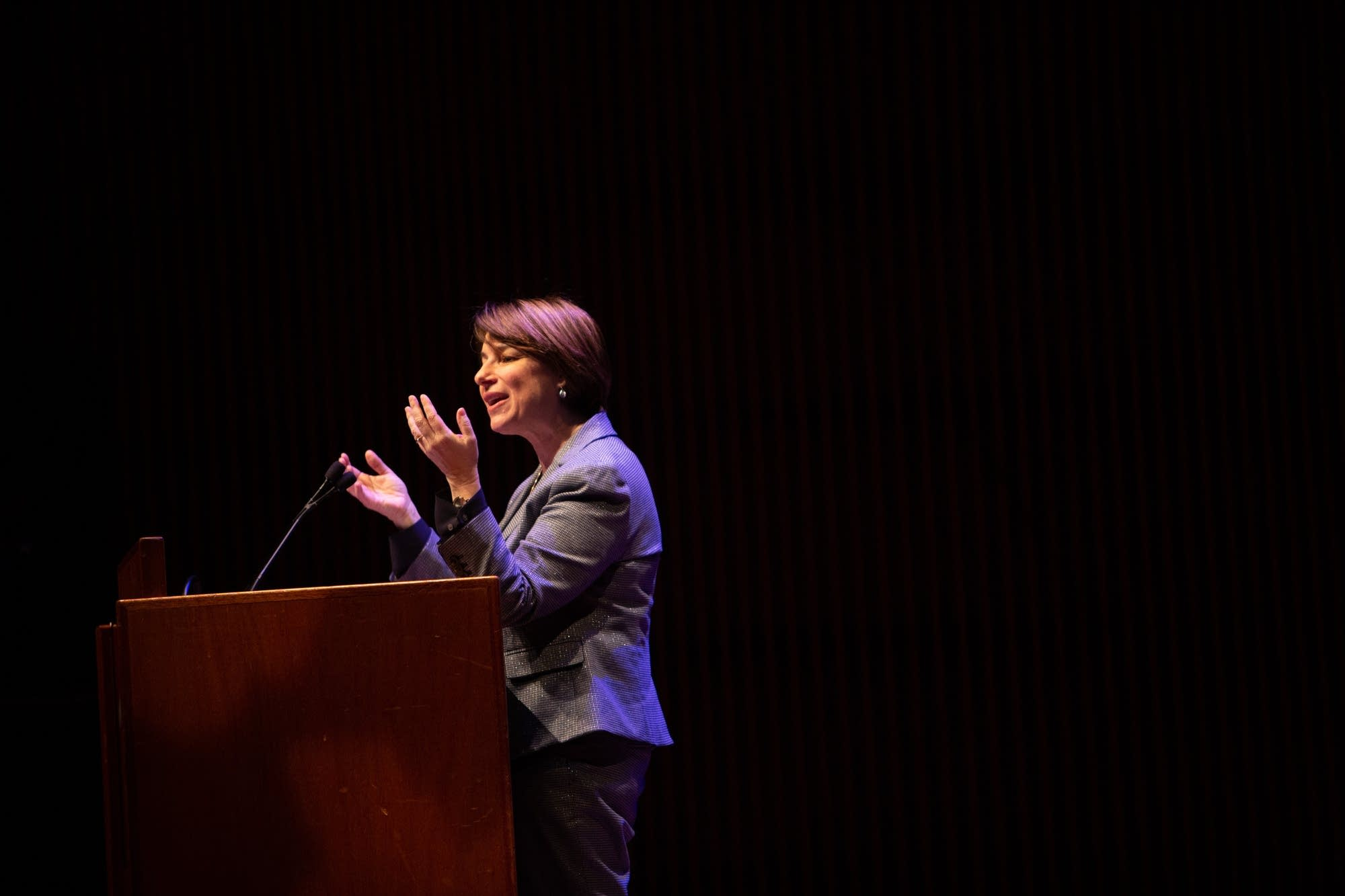 U.S. Sen. Amy Klobuchar speaks during the MLK Day Celebration.