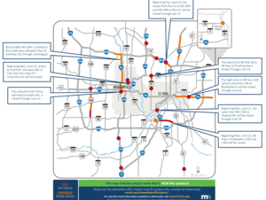 Metro area weekend traffic impacts for June 2-5