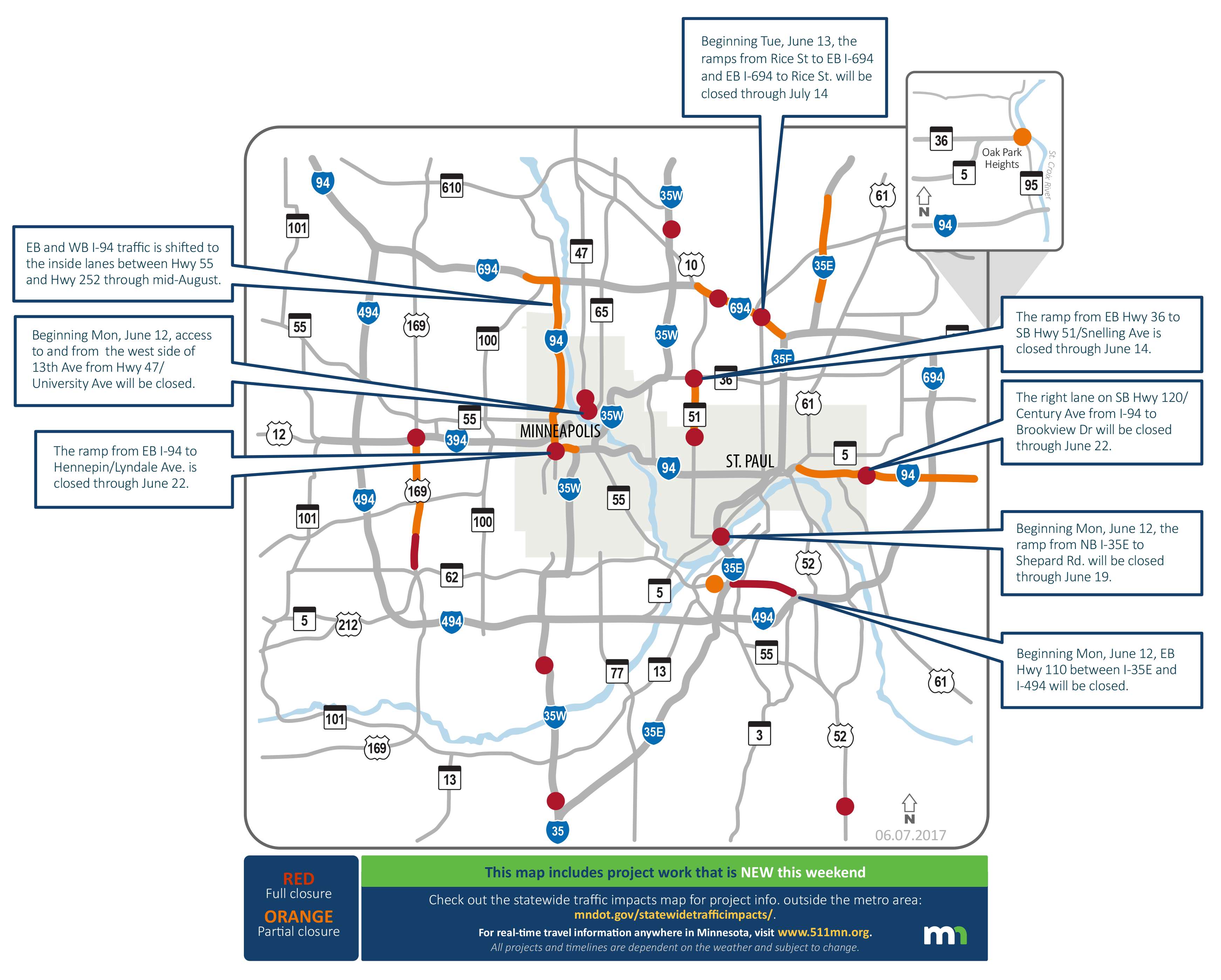 Twin Cities traffic woes Weekend 39 s not bad then comes Monday Minnesot