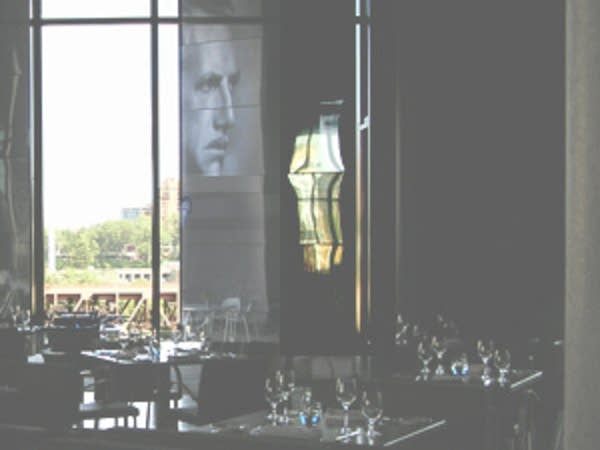 The dining room at Cue restaurant.