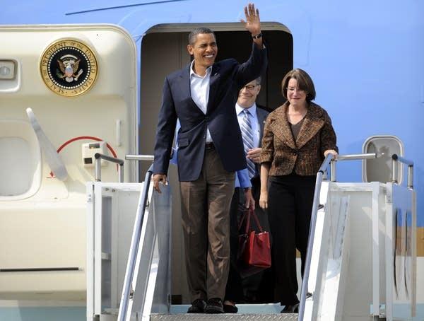 Barrack Obama, Amy Klobuchar, Al Franken