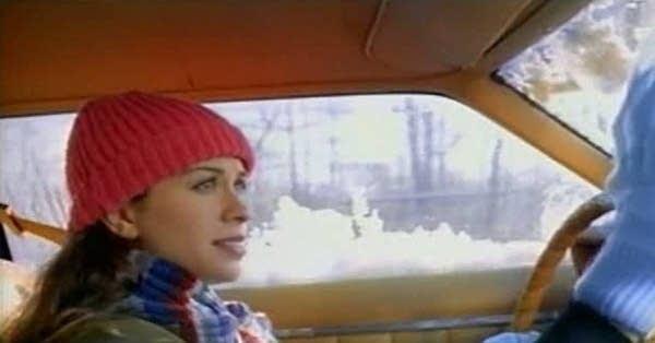 "Alanis Morissette in the video for ""Ironic"""
