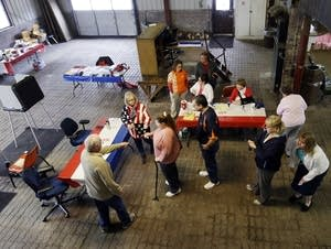 Voting in the Indiana presidential primary