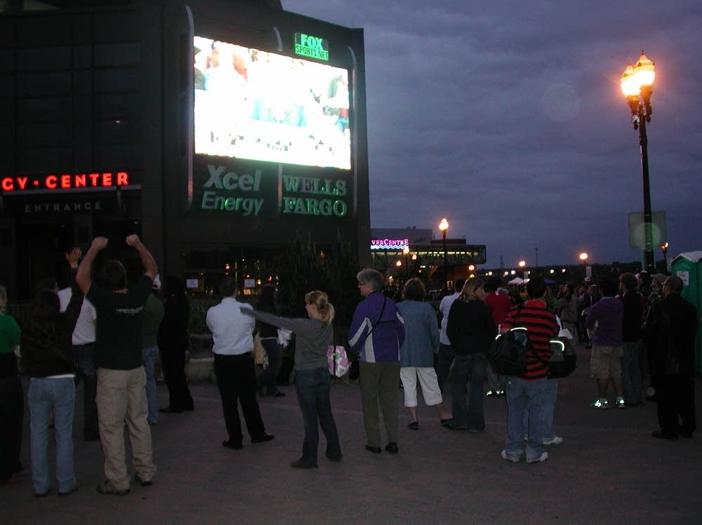 Outside Xcel Center